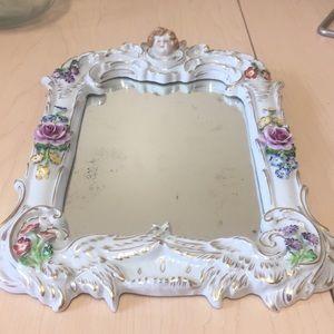 Other - Ceramic Cherub Wall Mirror